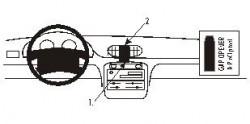Fixation voiture Proclip  Brodit Hyundai Accent Réf 852124