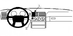 Fixation voiture Proclip  Brodit Volvo 850 Réf 852127