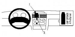 Fixation voiture Proclip  Brodit Opel Combo Réf 852129