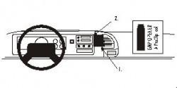 Fixation voiture Proclip  Brodit Cadillac Escalade Réf 852135