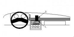 Fixation voiture Proclip  Brodit Chevrolet Beretta Réf 852138