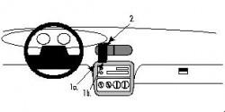 Fixation voiture Proclip  Brodit Chrysler Stratus Réf 852140