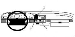 Fixation voiture Proclip  Brodit Ford Bronco Réf 852148