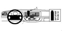 Fixation voiture Proclip  Brodit Lincoln Town Car Réf 852159