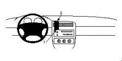 Fixation voiture Proclip  Brodit Pontiac Grand Am Réf 852165
