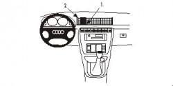Fixation voiture Proclip  Brodit Audi A4 Avant Réf 852169