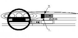 Fixation voiture Proclip  Brodit Porsche 911  SEULEMENT pour le panneau de cuir. Réf 852170