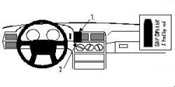 Fixation voiture Proclip  Brodit Volvo 850 Réf 852173