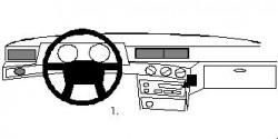 Fixation voiture Proclip  Brodit Volvo 740 Réf 852174