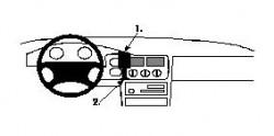 Fixation voiture Proclip  Brodit Ford Escort Réf 852175