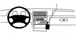 Fixation voiture Proclip  Brodit Nissan Maxima Réf 852183