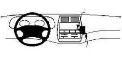 Fixation voiture Proclip  Brodit Ford Maverick Réf 852188
