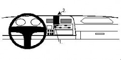 Fixation voiture Proclip  Brodit Toyota HiAce Réf 852190