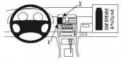 Fixation voiture Proclip  Brodit Lexus LS Series Réf 852203
