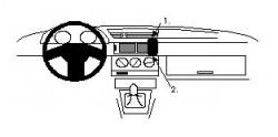Fixation voiture Proclip  Brodit Alfa Romeo 155  SEULEMENT pour la finition bois Réf 852205
