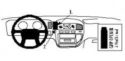 Fixation voiture Proclip  Brodit Mitsubishi L400 Réf 852210
