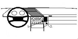 Fixation voiture Proclip  Brodit Peugeot 605 Réf 852218
