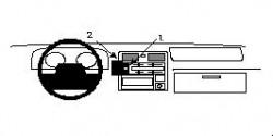 Fixation voiture Proclip  Brodit Toyota HiAce  UNIQUEMENT pour changement de vitesse manuel. Réf 852219