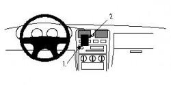 Fixation voiture Proclip  Brodit Nissan Almera Réf 852220