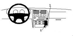 Fixation voiture Proclip  Brodit Nissan Almera Réf 852221