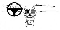 Fixation voiture Proclip  Brodit Fiat Brava Réf 852224