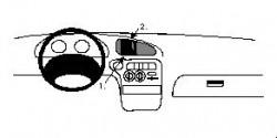 Fixation voiture Proclip  Brodit Hyundai Elantra Réf 852235
