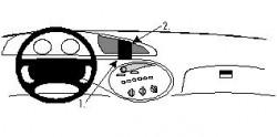 Fixation voiture Proclip  Brodit Ford Taurus  SEULEMENT pour les modèles avec changement de colonne. Réf 852238