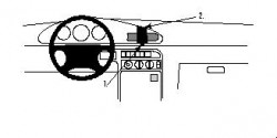 Fixation voiture Proclip  Brodit Kia Sephia Réf 852245
