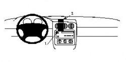 Fixation voiture Proclip  Brodit Pontiac Firebird Réf 852246