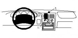 Fixation voiture Proclip  Brodit Toyota Tacoma Réf 852253