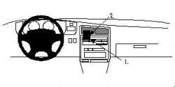Fixation voiture Proclip  Brodit Toyota T100 Réf 852254