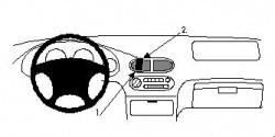 Fixation voiture Proclip  Brodit Honda Civic DelSol Réf 852260