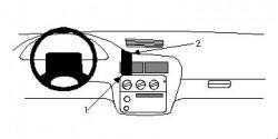 Fixation voiture Proclip  Brodit Chevrolet Cavalier Réf 852261