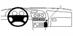 Fixation voiture Proclip  Brodit Oldsmobile Aurora Réf 852275