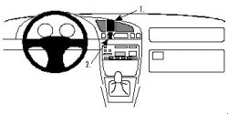 Fixation voiture Proclip  Brodit Ford Courier Réf 852293