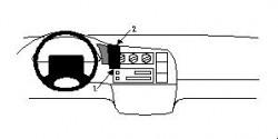 Fixation voiture Proclip  Brodit Chevrolet Astro Réf 852299