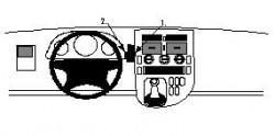 Fixation voiture Proclip  Brodit Mercedes Benz V-Class Réf 852302
