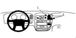 Fixation voiture Proclip  Brodit Mitsubishi L400 Réf 852305