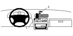 Fixation voiture Proclip  Brodit Toyota Paseo Réf 852314