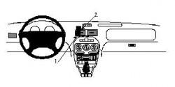 Fixation voiture Proclip  Brodit MG F Réf 852318