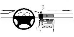 Fixation voiture Proclip  Brodit MG ZS Réf 852319