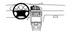 Fixation voiture Proclip  Brodit Kia Clarus Réf 852321