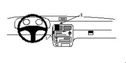 Fixation voiture Proclip  Brodit Kia Pride Réf 852322