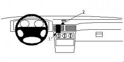 Fixation voiture Proclip  Brodit Chevrolet Matiz Réf 852327