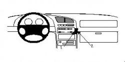 Fixation voiture Proclip  Brodit Mazda 323 F Réf 852341