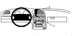 Fixation voiture Proclip  Brodit Ford Mondeo Réf 852348
