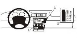 Fixation voiture Proclip  Brodit Chevrolet Trans Sport Réf 852364