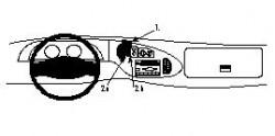 Fixation voiture Proclip  Brodit Ford Cargo Van Réf 852367