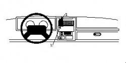 Fixation voiture Proclip  Brodit Jeep Sahara Réf 852382