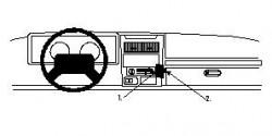 Fixation voiture Proclip  Brodit Jeep Sahara Réf 852384
